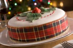 dekorerad frukt för cake jul Royaltyfria Foton