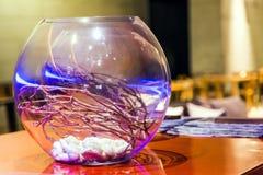 Dekorerad glass boll Arkivfoto