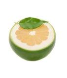 dekorerad half leafwhite för grapefrukt Fotografering för Bildbyråer