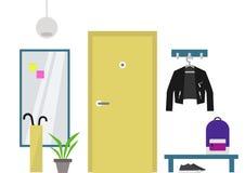 Dekorerad hallinre: lägenhet Arkivbild