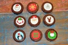 Dekorerad jul Honey Breads eller kakor Arkivbilder