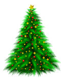 Dekorerad julgran Fotografering för Bildbyråer