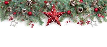 Dekorerad julgrantree royaltyfria bilder