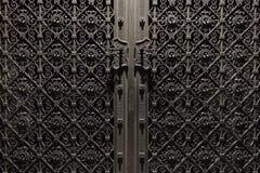 Dekorerad metalldörr Arkivbild