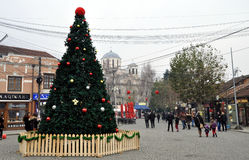 Dekorerad Shadrvan fyrkant i Prizren, Kosovo Royaltyfri Fotografi