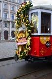 Dekorerad spårvagn, Wien Fotografering för Bildbyråer