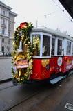 Dekorerad spårvagn, Wien Royaltyfri Fotografi