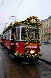 Dekorerad spårvagn, Wien Royaltyfria Bilder