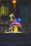 dekorerad tabell Royaltyfri Fotografi