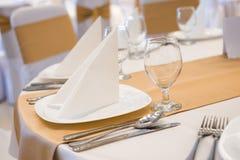 Dekorerad tabell för bröllopmottagande Arkivfoton