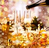 Dekorerad tabell för jul ferie royaltyfria bilder