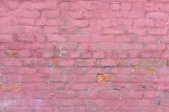 Dekorerad yttre murverkvägg i förfallet villkor Royaltyfri Bild