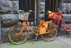Dekorerade cyklar Arkivfoton