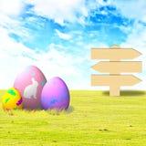 dekorerade easter ägg tre Arkivbild