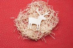 Dekorerade julhjortar Royaltyfri Bild