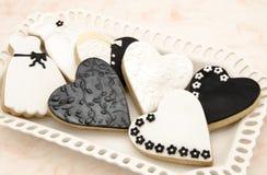 Dekorerade kakor Arkivfoto