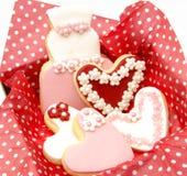 Dekorerade kakor Royaltyfria Foton