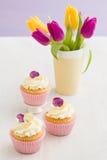dekorerade muffiner Royaltyfri Fotografi