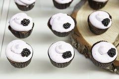 Dekorerade söta muffin Fotografering för Bildbyråer
