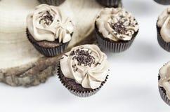 Dekorerade söta muffin Arkivbild