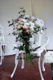 dekorerade stolar Royaltyfria Foton