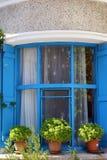 Dekorerade Turkiet, Boazcaada fönster royaltyfri foto