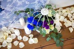dekorerat bröllop för pärlarotabell Royaltyfri Fotografi