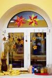 Dekorerat fönster Arkivbilder
