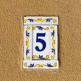 Dekorerat husnummer royaltyfria bilder