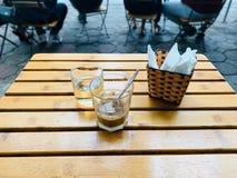 Dekorerat i ett kaf? i Hanoi royaltyfri bild