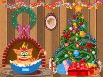 Dekorerat julrum Fotografering för Bildbyråer