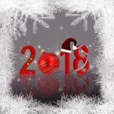 Dekorerat nytt år 2018 för jul Arkivbilder