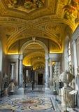 Dekorerat tak i gallerit av av översikter, Vaticanenmuseum Arkivbilder