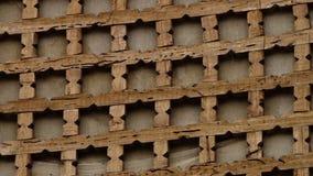 Dekorerat trägaller i Xiva, Uzbekistan arkivfilmer