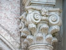 Dekorować kolumnę na Świętym krzyżu obraz royalty free