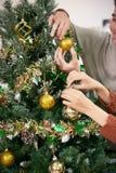 dekorować jedlinowego drzewa fotografia stock
