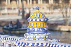 Dekors detaljer i Seville royaltyfria foton