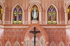 Dekorująca ściana w kościół katolickim Obraz Royalty Free