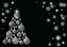 Dekorująca choinka, piękny nowego roku tło ilustracji