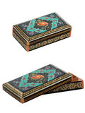 Dekorująca drewniana szkatuła. Zdjęcia Royalty Free