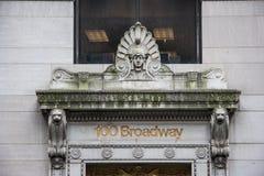 Dekorująca fasada wejście Nowa Jork Broadway ulica Fotografia Stock