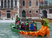Dekorująca Gondola Obrazy Royalty Free
