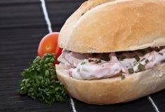 dekorująca mięsna pietruszka stacza się sałatki Zdjęcie Stock