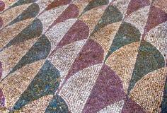 Dekorująca mozaiki podłoga w rzymskim Caracalla Thermae Kąpać się w R Obrazy Stock