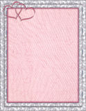 Dekorująca rama z hearted różowym tłem Zdjęcie Royalty Free