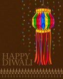 Dekorująca wisząca lampa dla Diwali świętowania Zdjęcia Stock