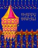 Dekorująca wisząca lampa dla Diwali świętowania Obrazy Royalty Free