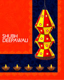 Dekorująca wisząca lampa dla Diwali świętowania Fotografia Royalty Free