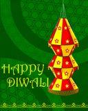 Dekorująca wisząca lampa dla Diwali świętowania Fotografia Stock