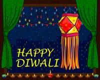 Dekorująca wisząca lampa dla Diwali świętowania Obraz Stock